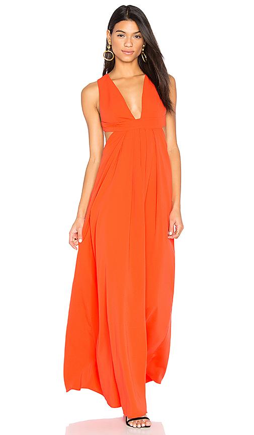 JILL JILL STUART Cross Back Gown in Orange