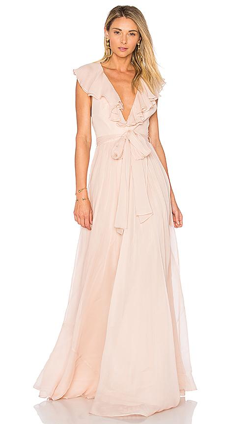 JILL JILL STUART Ruffle Gown in Blush