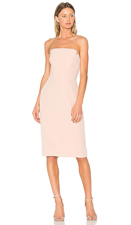 JILL JILL STUART Strapless Midi Dress in Blush