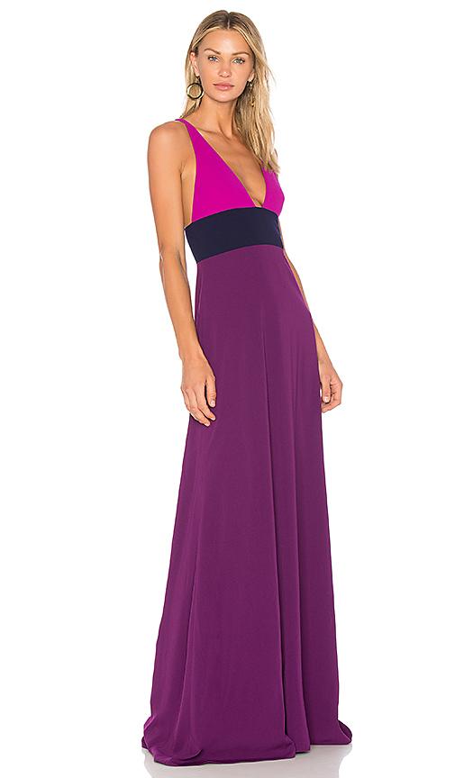 JILL JILL STUART Color Block Gown in Purple