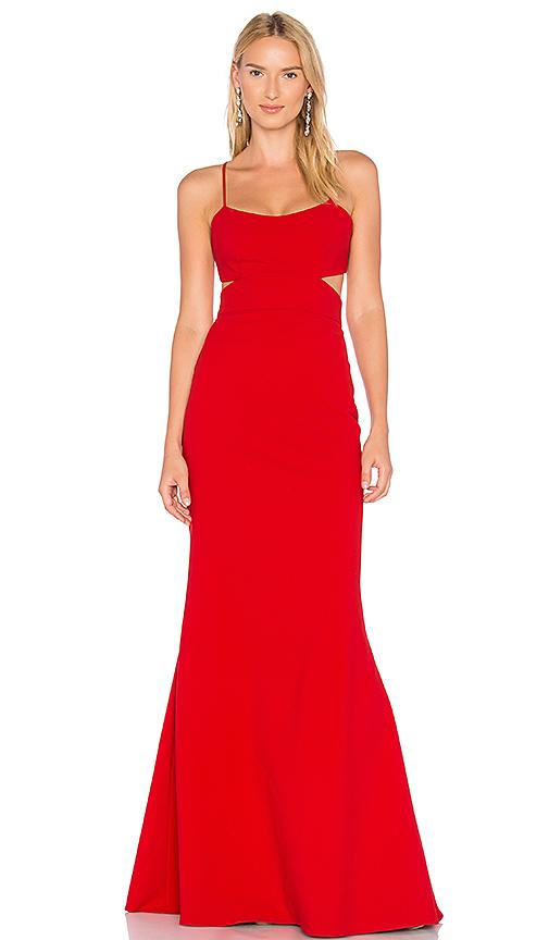 JILL JILL STUART Cutout Gown in Red