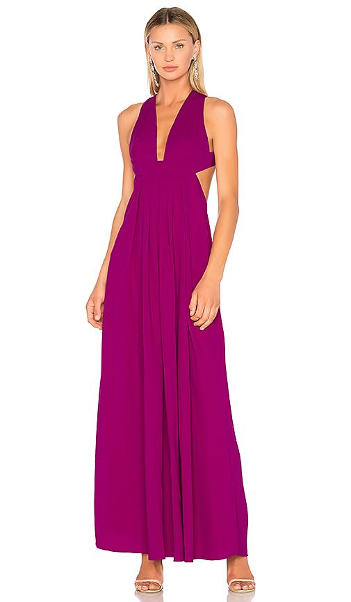 JILL JILL STUART Empire Cut Out Gown in Purple