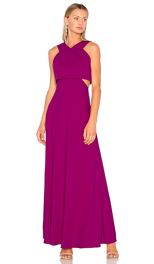 JILL JILL STUART V Neck Gown in Purple