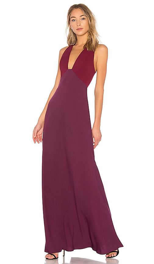 JILL JILL STUART Two Tone V Neck Gown in Purple