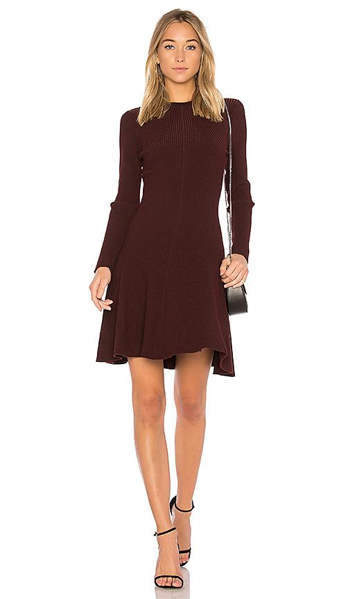 John & Jenn by Line Audrey Sweater Dress in Wine