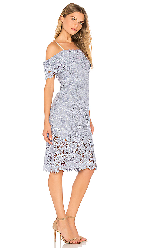 J.O.A. Cold Shoulder Lace Dress in Lavender