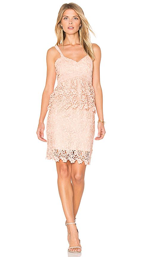 J.O.A. Crochet Dress in Pink