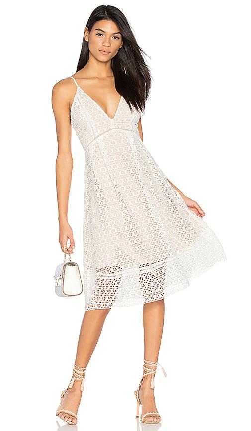 J.O.A. Crochet Dress in White