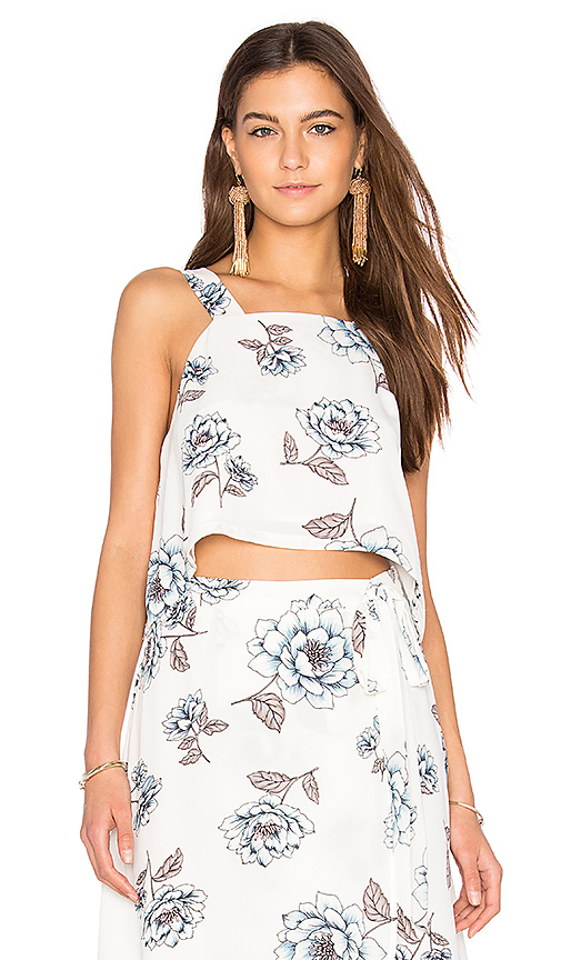 J.O.A. Cropped Top in White