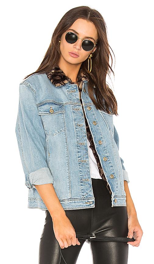Joe's Jeans The Boyfriend Jacket with Faux Fur Collar