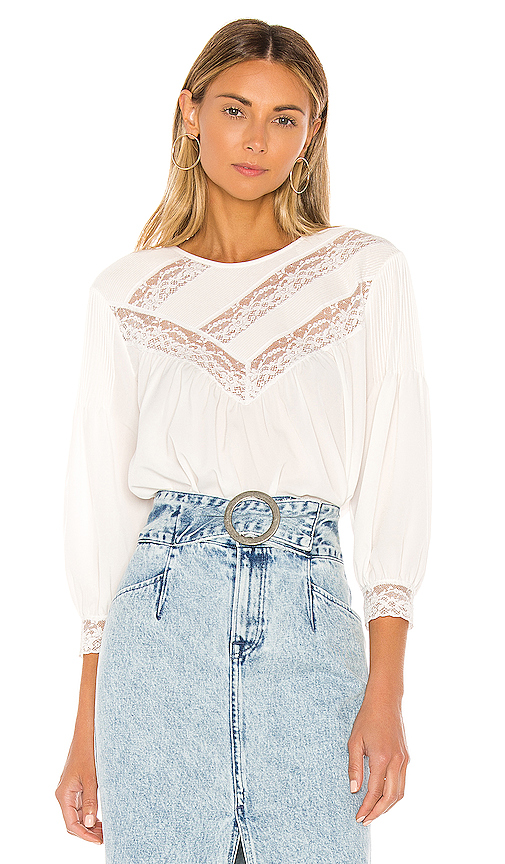 Joie Tops JOIE MARGETTE BLOUSE IN WHITE.