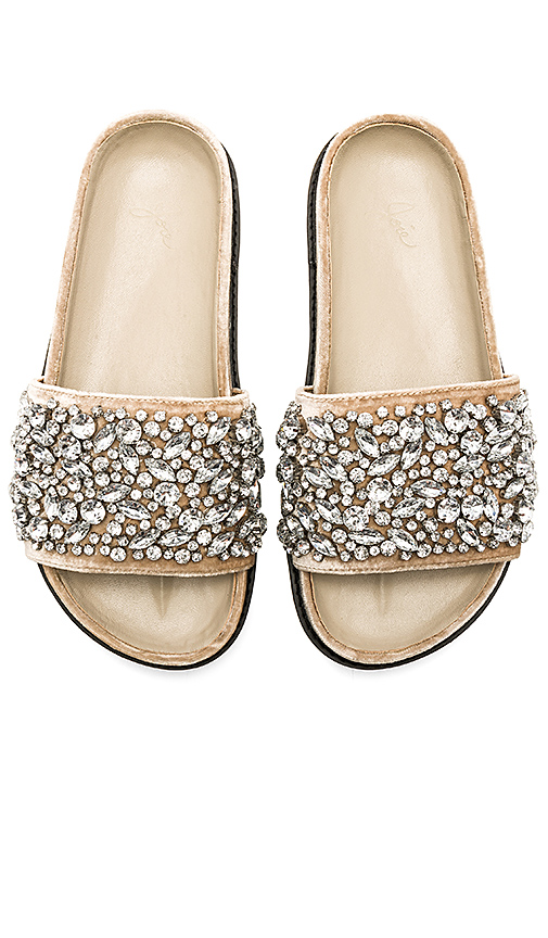 Joie Jacory Embellished Slide in Tan