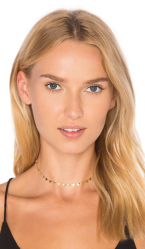 joolz by Martha Calvo Triangle Choker in Metallic Gold