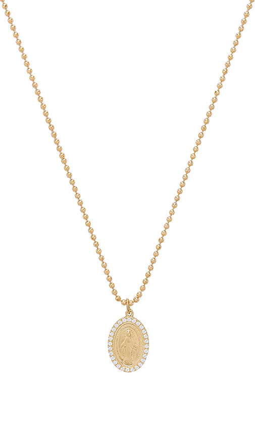 joolz by Martha Calvo Miraculous Mary Pendant Necklace in Metallic Gold
