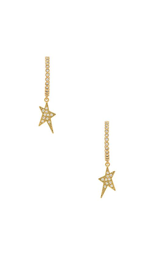 joolz by Martha Calvo Shooting Star Earrings in Metallic Gold
