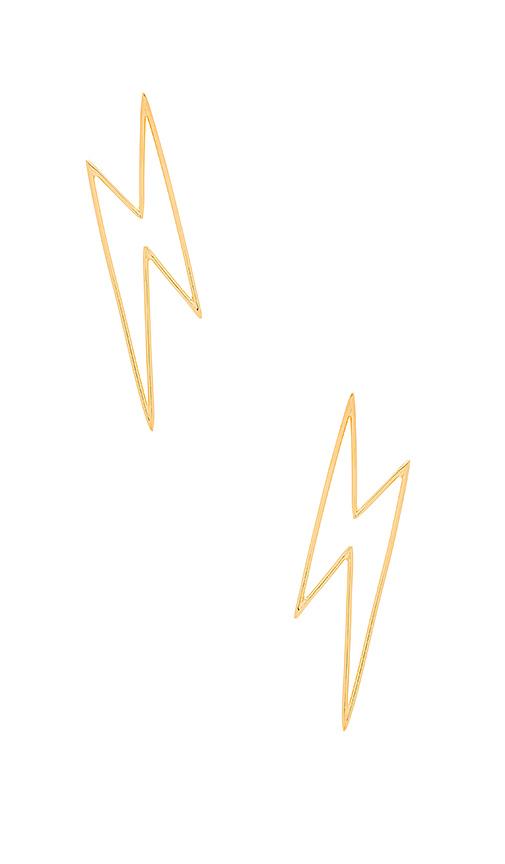 joolz by Martha Calvo Bolts Earrings in Metallic Gold