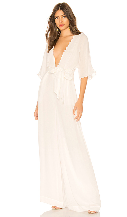 THE JETSET DIARIES Ines Jumpsuit in White. - size XS (also in M)