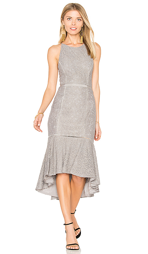 Photo of THE JETSET DIARIES Constance Midi Dress in Gray - shop THE JETSET DIARIES dresses sales