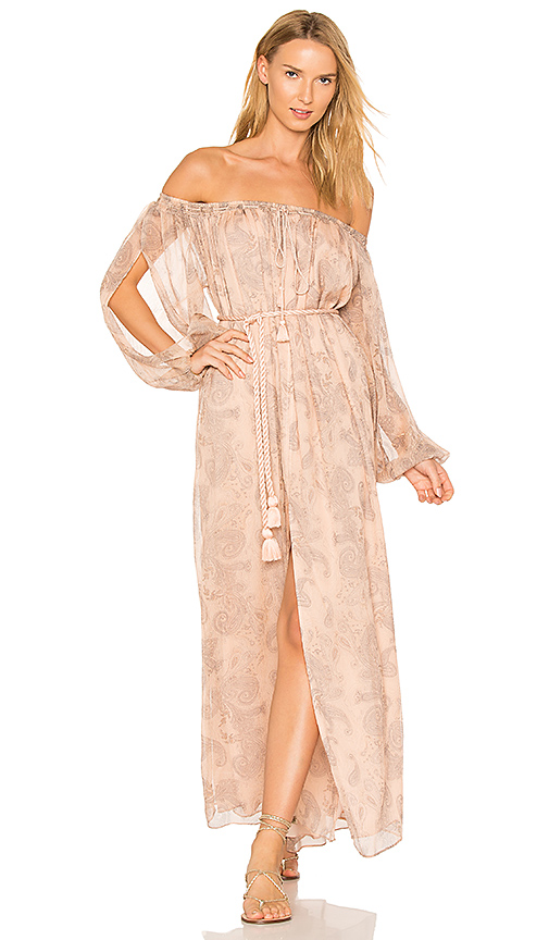 THE JETSET DIARIES X REVOLVE Sublime Illusion Off-Shoulder Dress in Beige