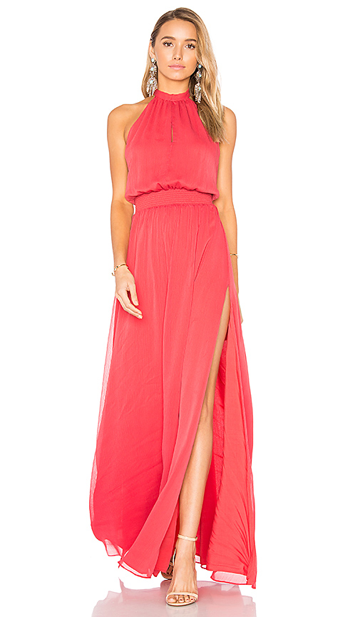 THE JETSET DIARIES Shale Maxi Dress in Red