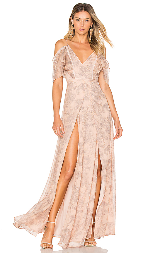 THE JETSET DIARIES Sublime Illusion Maxi Dress in Beige