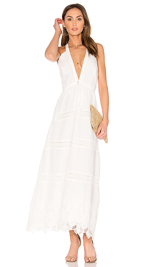 THE JETSET DIARIES Camila Maxi Dress in Ivory
