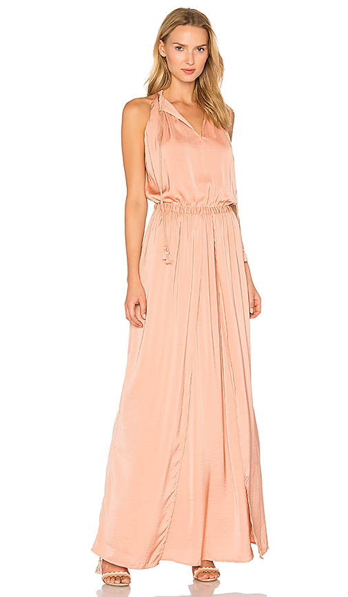 THE JETSET DIARIES Omara Maxi Dress in Coral