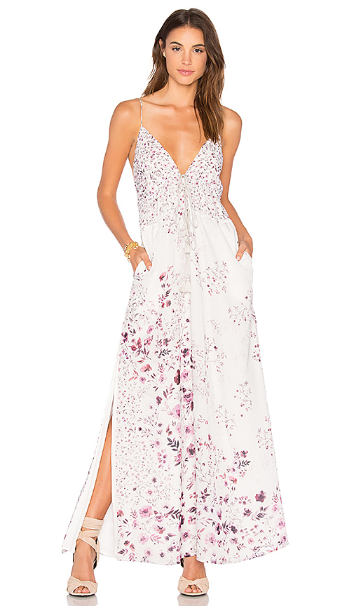 THE JETSET DIARIES Flora Maxi Dress in Light Gray