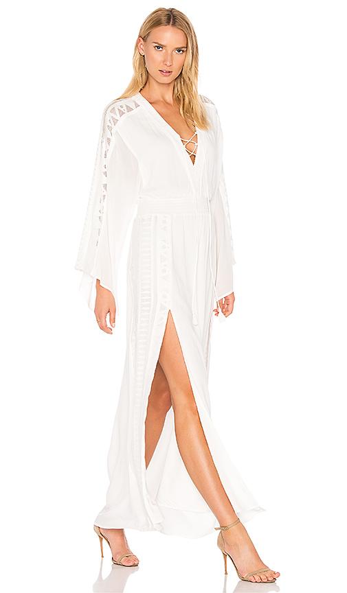 THE JETSET DIARIES Cirrus Maxi Dress in White