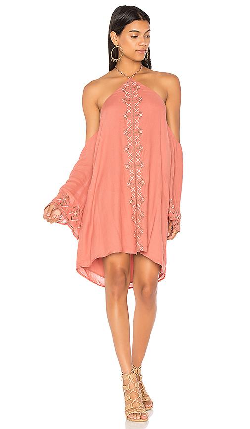 THE JETSET DIARIES Desert Rose Mini Dress in Rose