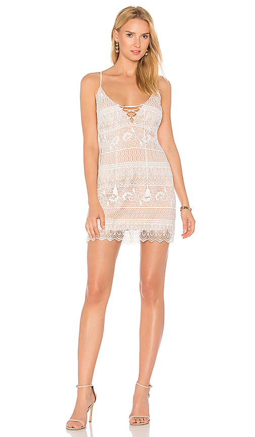 THE JETSET DIARIES Lupita Mini Dress in Ivory