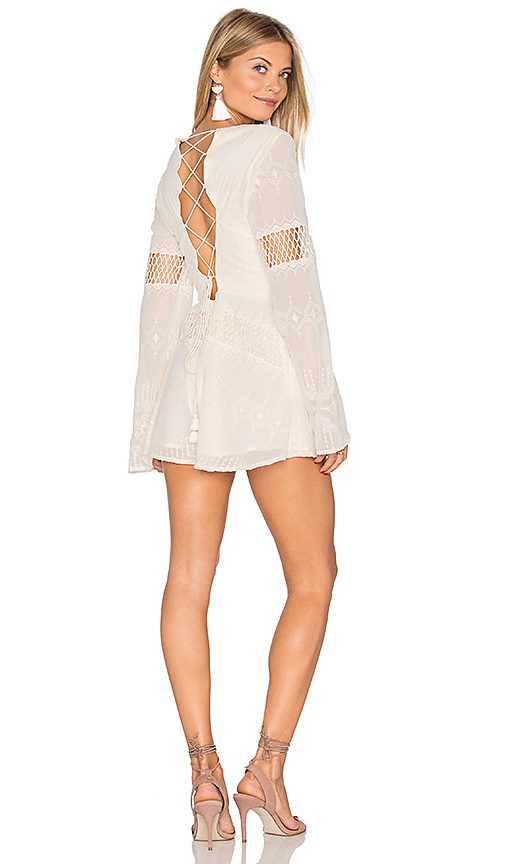 THE JETSET DIARIES Dokuma Romper in White. - size S (also in M,XS)