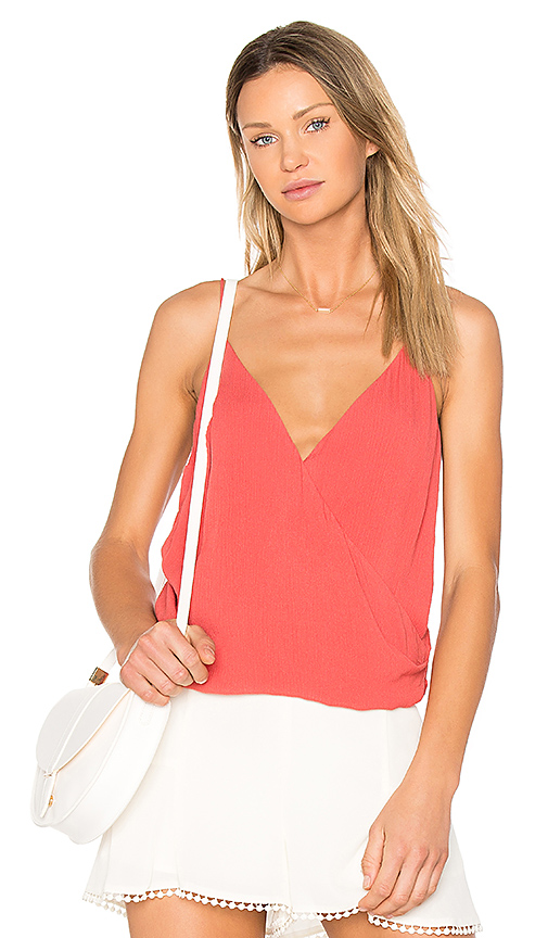 THE JETSET DIARIES Golden Island Cami in Coral