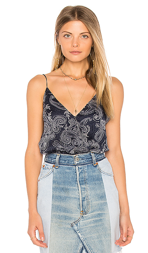 THE JETSET DIARIES Wrap Front Bodysuit in Navy