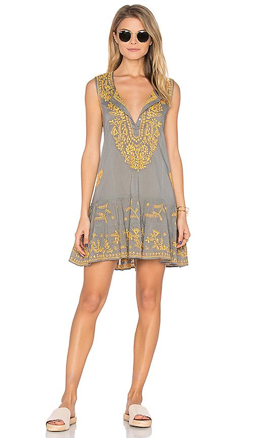 juliet dunn Sleeveless Shift Beach Dress in Gray. - size 1/S (also in 2/M)