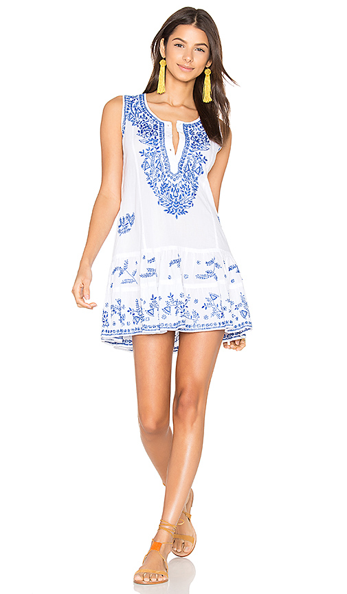 juliet dunn Shift Beach Dress in White. - size 1/S (also in 2/M,3/L)