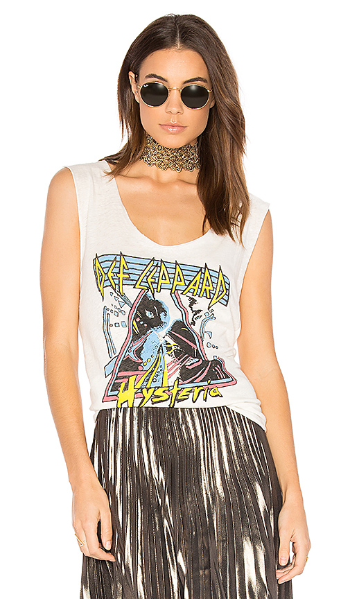 Junk Food Def Leppard Hysteria Tank in White