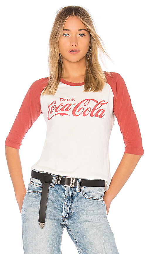 Junk Food Coca Cola Raglan Tee in White