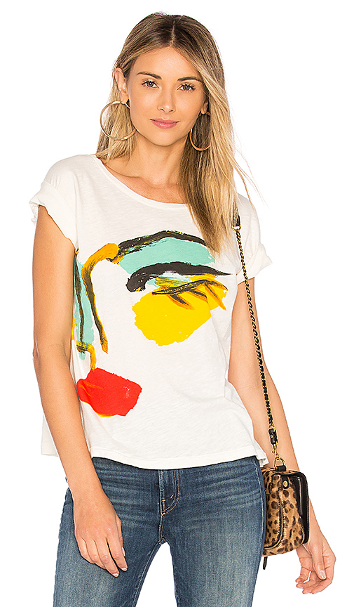 Junk Food Donald Robertson Face Tee in White
