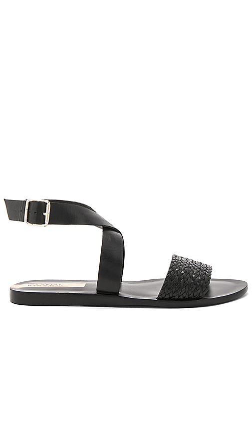 Kaanas Fortaleza Braided Sandal in Black