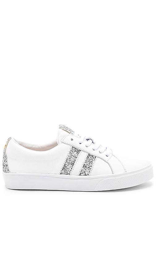 Kaanas Tatacoa Contrast Stripe Sneaker in White