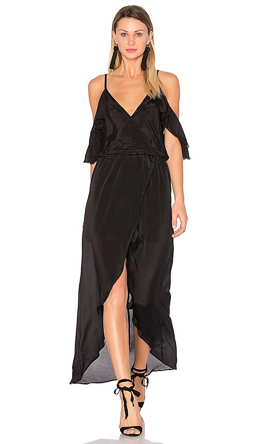 Karina Grimaldi Rockefeller Solid Maxi in Black