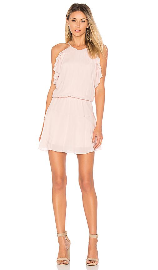 Karina Grimaldi Lulu Solid Mini Dress in Pink