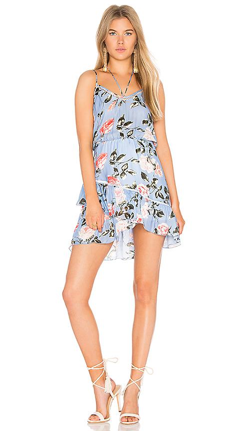 Karina Grimaldi Love Print Mini Dress in Blue