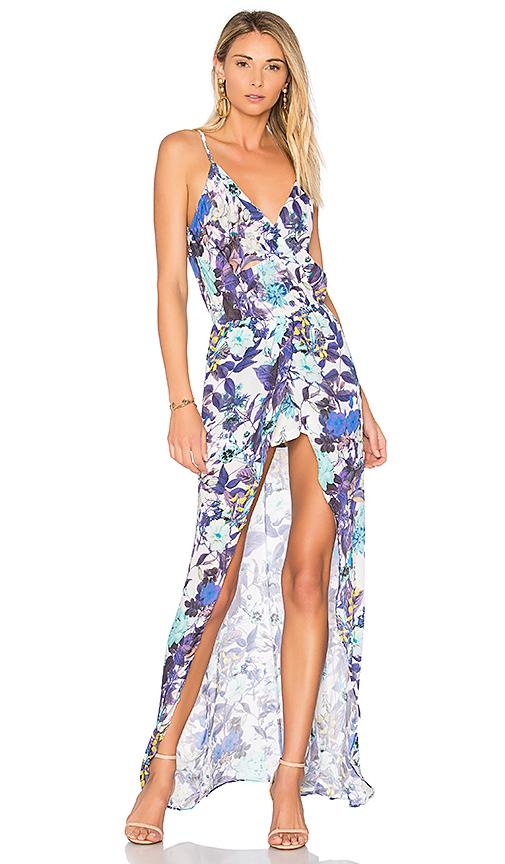 Karina Grimaldi Aculina Print Dress in Blue