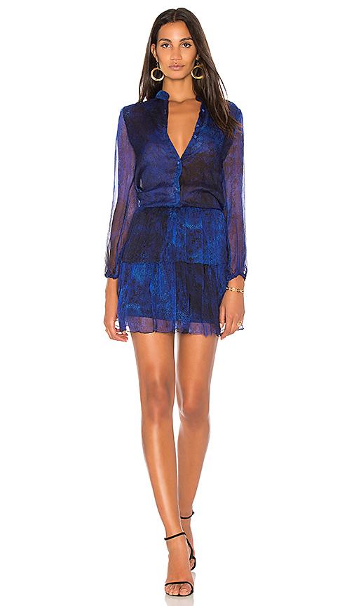 Karina Grimaldi Karina Print Mini Dress in Royal