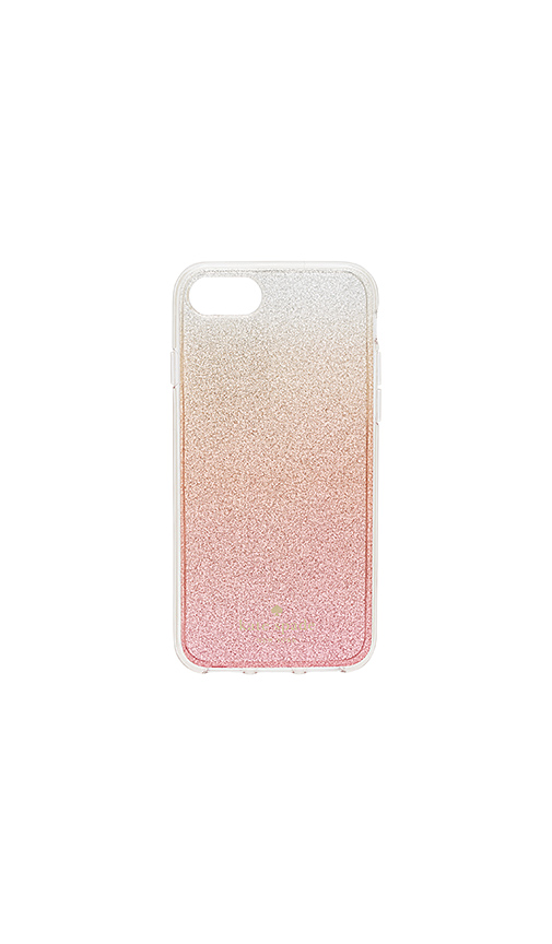 kate spade new york Glitter Ombre iPhone 7 Case in Pink
