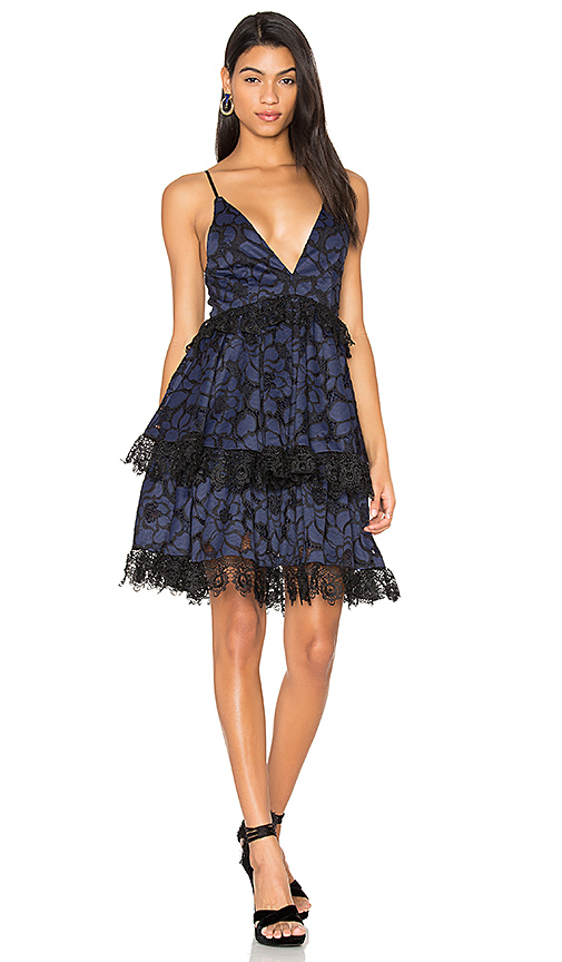 KENDALL + KYLIE Babydoll Dress in Navy