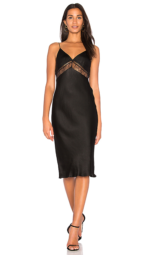 KENDALL + KYLIE Lace Slip Dress in Black