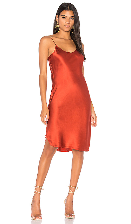 KENDALL + KYLIE Silk Slip Dress in Red